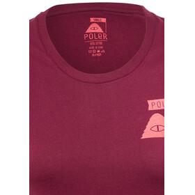 POLER Summit - T-shirt manches courtes Femme - rouge